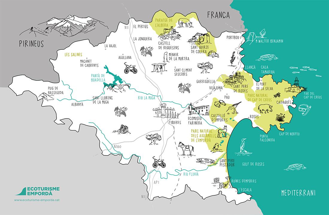 Mapa De Alt Emporda.Come To Roses And Ampurdan Ate Alquiler Y Venta De Casas Y Apartamentos En Rosas Costa Brava